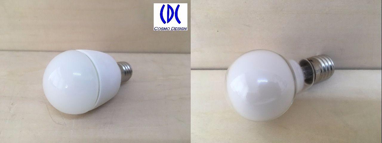 左がLED電球、右が白熱電球